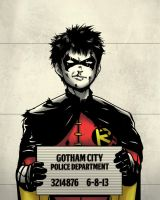Gotham Mugshot- Robin by Joe-Sketch