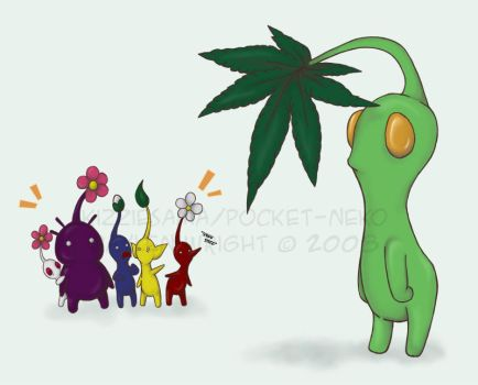 WTF- Green Pikmin remake by Kizziesama