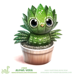 Daily Paint 1883# Alowl Vera by Cryptid-Creations