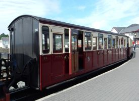 Ffestiniog Rly Carriage 26 at Porthmadog Harbour by rlkitterman