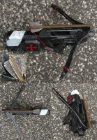 Nerf Rayven repeating crossbow Templar theme by GirlyGamerAU
