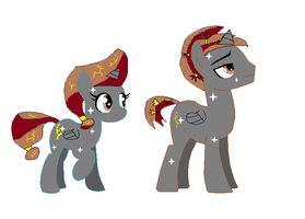 Me and Julius As Two Crystal Ponies by littledoegiuli95