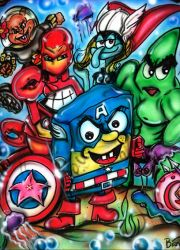 Bikini Bottom Avengers by BiancaThompson