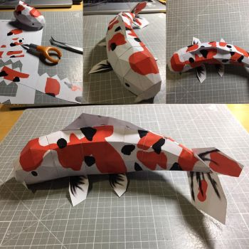 Low Poly Koi fish papercraft  by otherwld