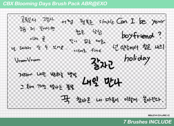 [SHARE ABR] CBX #Blooming Days Brush Set#2 @EXO by SuzyKimJaeXi