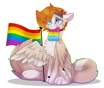 Love Is Love [Pride Month Drawing] by DerpyDinosaurus