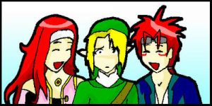 Zelos, Link and Reno by Midnas