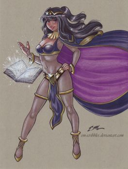 Tharja Commission by em-scribbles