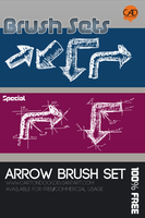Free Arrow Brush Set by UJz
