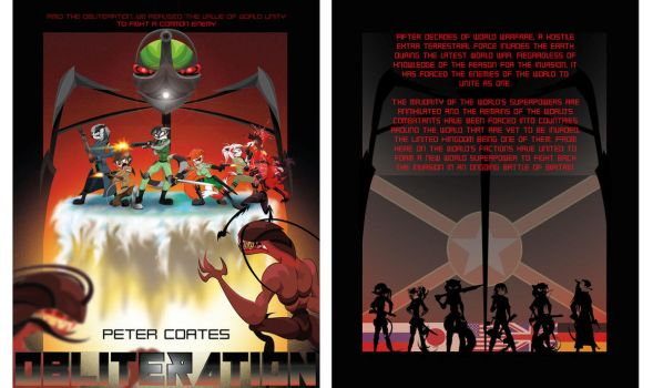 Obliteration: Front and back cover designs by GoneIn10Seconds