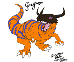 The name is GREYMON by laryssadesenhista