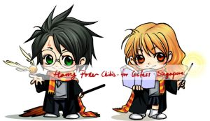 harry potter chibis01 by exwhy