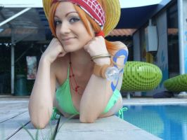 Nami summer cosplay, One Piece by Mellorineeee