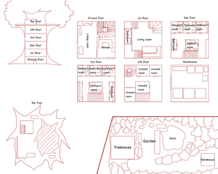 ES: Eeveelution Treehouse Layout by PKM-150