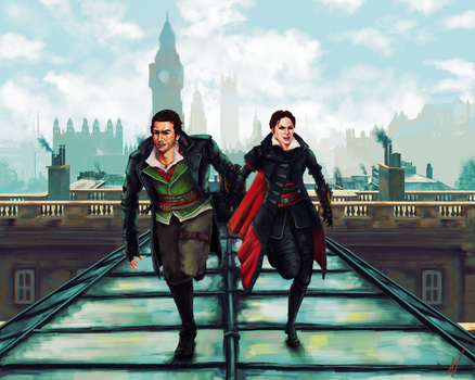 Assassin's Creed: Syndicate fan art - Frye twins by ngenoART