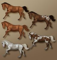 Sheet: Multibreed horse by chronically