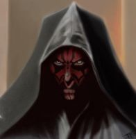 Darth Maul Portrait Digital by TheScorpionLord
