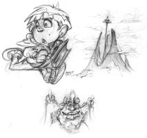 neverending story sketches by MarioPons