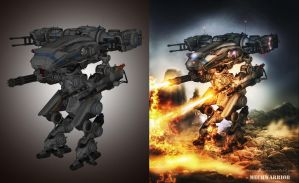 Mechwarrior - before and after by peroni68