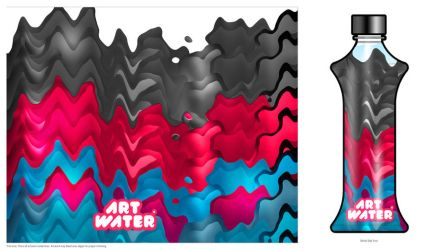 Art water Bottle- Nigra by Bolkadesign