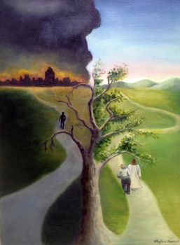 There are two roads1 by Hansonartgallery