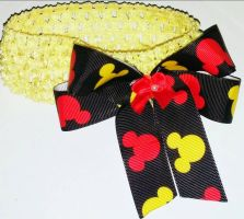 Yellow Disney Mickey Mouse headband by wolf-girl87