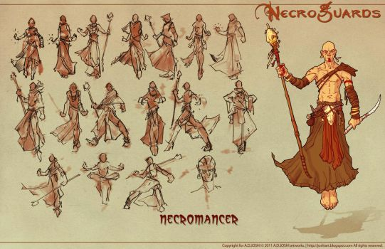 DnD Fantasy - Necromancer by Atomic-Hermit
