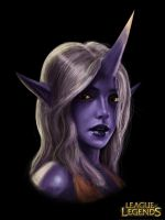 Soraka portrait 4 by Penator