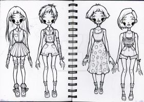 fashion sketches by reminisense