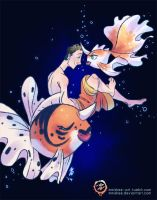 Justin's Water Pokemon - Goldeen and Seaking
