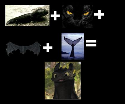 How to make Toothless by Fluff-Kitten