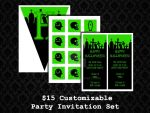 Party Invite Sets - Halloween 02 by PointyHat