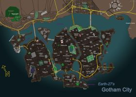 [Earth-27 for Nitwits] Gotham City by Roysovitch