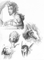 Just some sketches by HaanPere