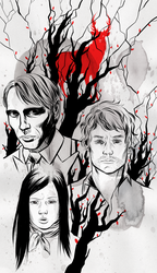 the stag, the fawn and the bloodhound by strayheadache