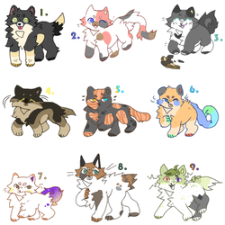 Various Kitty Adopts - 7/9 Open by 41699