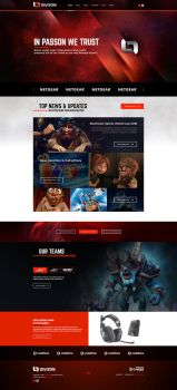 Divizon eSport Branding and Gaming Template by BorisWick