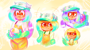 Salmon Run Strawberry Doodles by Pypixy