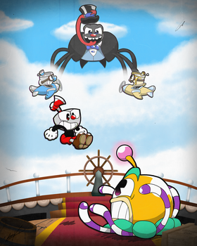 Cuphead in: Airship Altercation. by GSVProductions