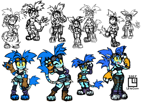 Concept Art for Tally Marx by LE-the-Creator