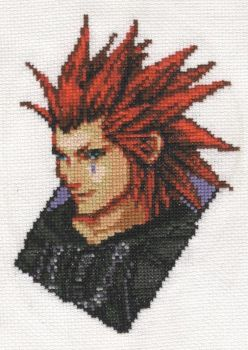 Axel Cross-stitch - 4 monthes by x-Tsukai-x