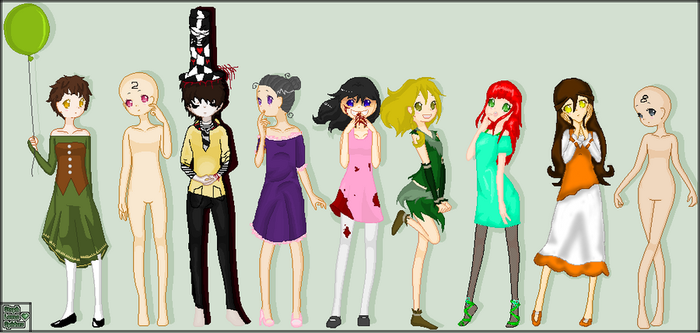 Group O' Girls Collab by RobotsWithCookies