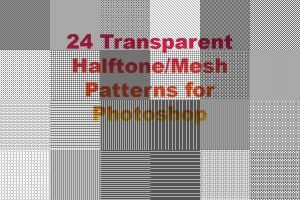 Halftone/Mesh Patterns for Photoshop by cazcastalla