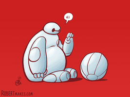 Baymax's New Friend by RobertMakes