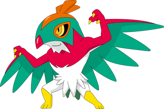 Hawlucha Vector by Ruki-Makino
