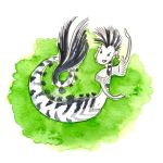Sea zebra-mermaid by jkBunny