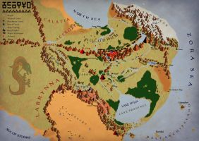 Map of Hyrule - almost done by Serendipitous-Way