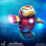 Daily Paint 2035# Iron Manatee by Cryptid-Creations