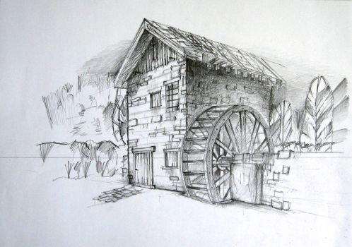 Old_water_mill by zershyrum