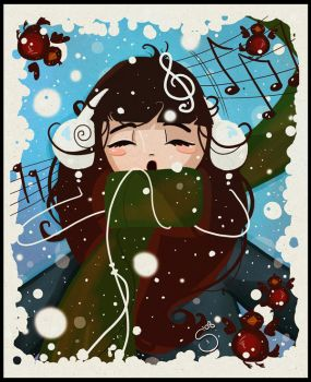 music in the snow by Araniel